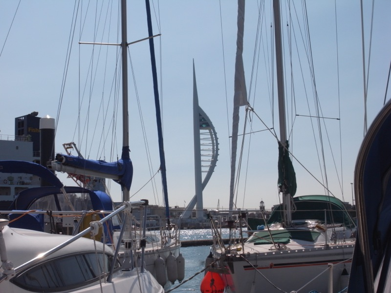 Spinaker tower as seen from our mooring.