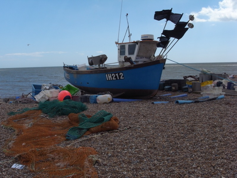 Fishing boat, Aldeburgh beach.