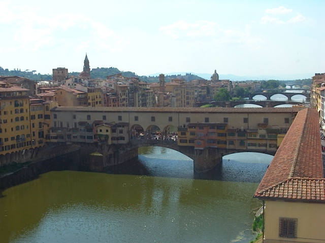 Ponte Vecchio bridge, also from the Uffizi gallery.