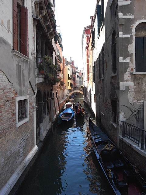 One of the many narrow canals. I think this represents Venice perfectly.
