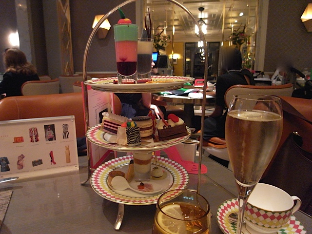 November, afternoon tea in London.