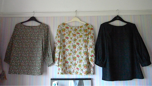3 Mathilde blouses all in a row!
