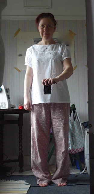 Shameless pic of me in PJ's and messy hair, but its my blog and I don't care!