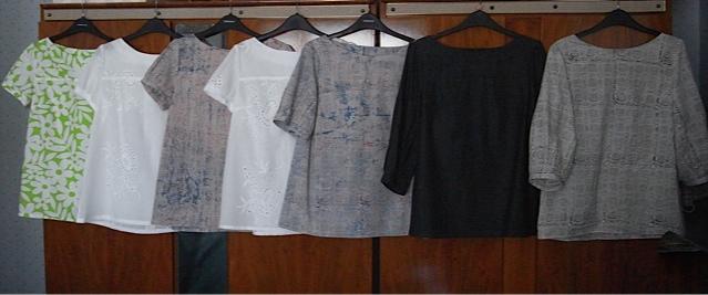 7 lovely blouses.