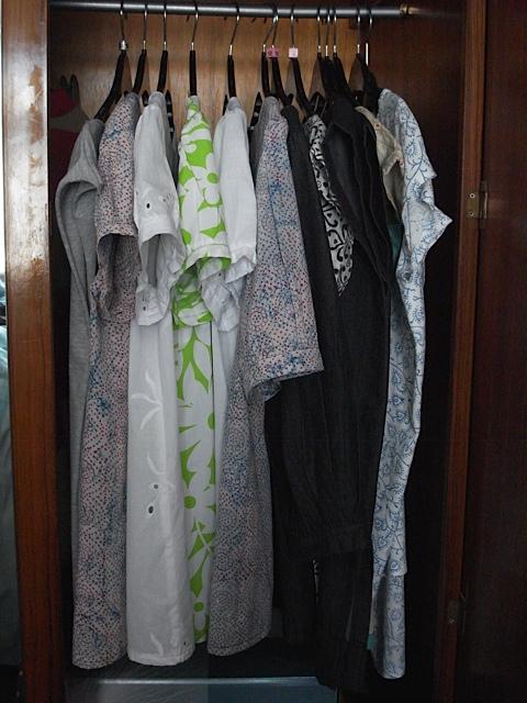 A wardrobe full of self made tops :0)