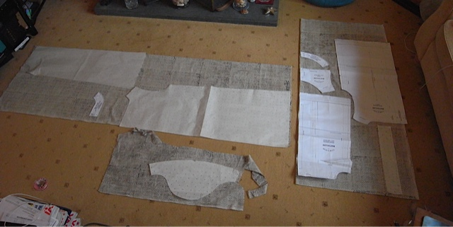 Showing the pattern layout for dress and top.