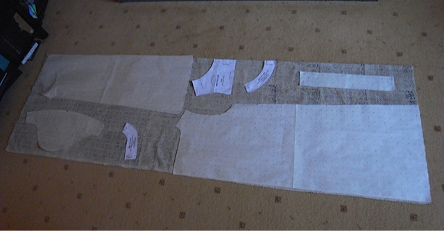 Pattern layout for the dress.