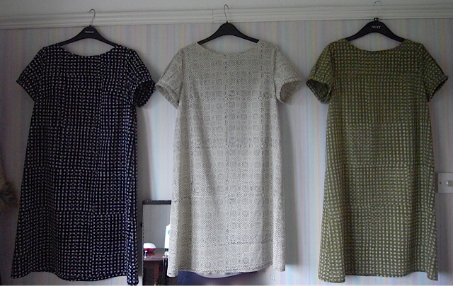 3 dresses all in a row. These make me happy!