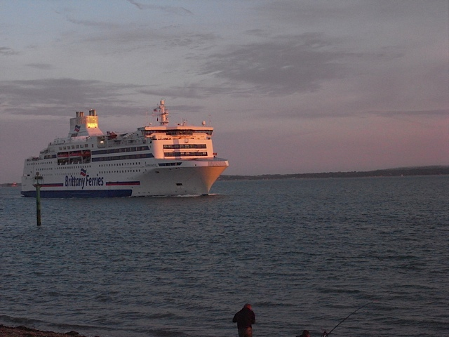 Big ferries like this Brittany ferry.