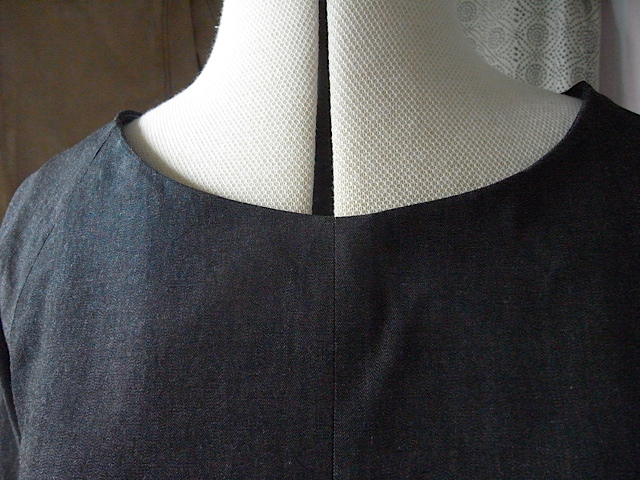 Not used to doing the neckline facing after putting garment together.