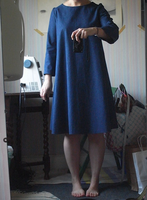 Just adding a mod pic for reference. Cropped head out as had major bed head hair! I usually  start sewing before I make myself presentable.